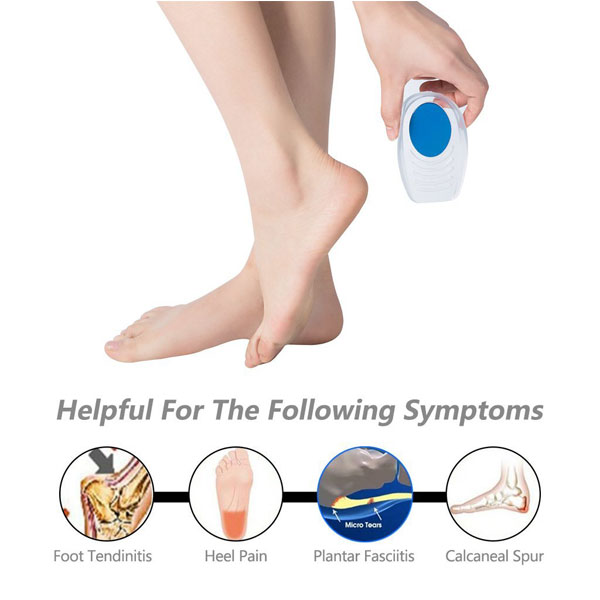 Foot Care Comfort Silicone Foot Pad Insole Silicone Gel Heel Cup Cushion Pad ZG -207