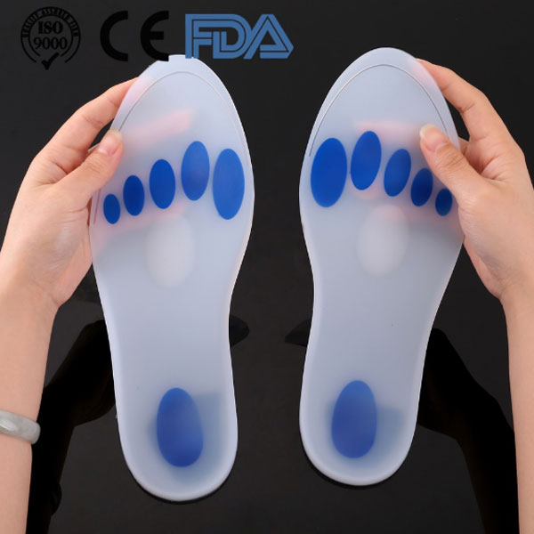 2018 Hot Selling Healthy Care Shock Absorbimento Plantar Fascette Dolore Relief Medico Silicone Insole ZG -1885