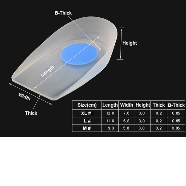 2019 Medical Silicone Heel Cup Insole Foot Care Silicone Cushion Pad per Foot Spurs Dolore Relief ZG -495