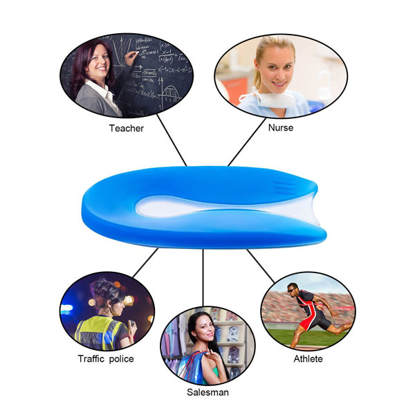 Medico Silicone Heel Pad Foot Massager Gel Back Cushion Pad for Shoes ZG -1873