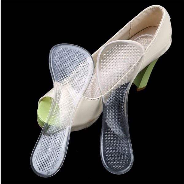 Nuovo Sé Durevole Sticky Gel Bone Shape Cover Women High Heel 3 /4 Silicone Gel Insole per ladies ZG -354
