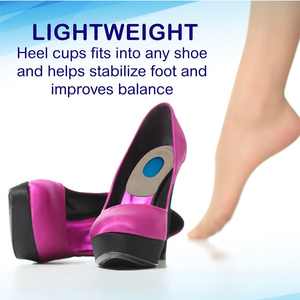 Gel Heel Cups for Heel Spurs Massaging Cushions Provider Foot Relief _ZG-1897