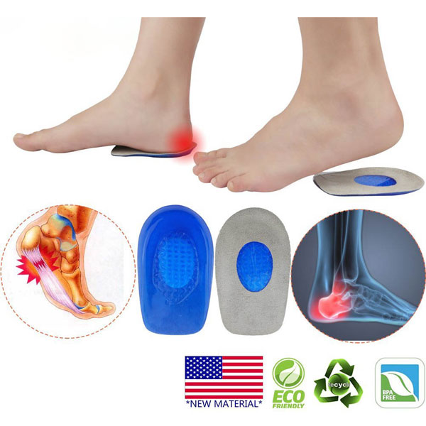 Super Comfortable Foot Care Silicone Gel Insole Heel Cups for Adults ZG -1898