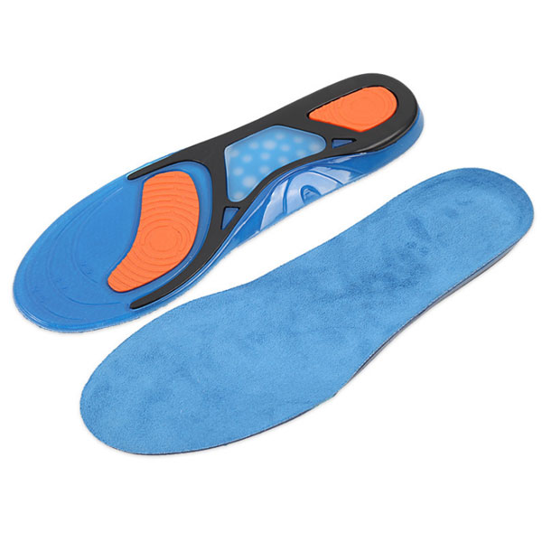 Amazon High Elastic Shock Absorbimento Plantar Fasitis Relief Foot Care Silicone Gel Sports Sneaker Insole ZG -321