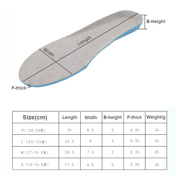 Commercio all'ingrosso Amazon Hot Sell Full Length Orthotic Foot Massage Personalizzato Insole ZG -460
