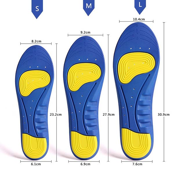 Shock -assorbimento Respirabile Insoluto Orthotics GEL Sports Comfort Shoes Insole per le donne _ZG-256
