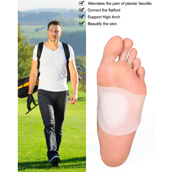Soft Gel Protettore Sleves per Flat Foot Arch Support Cushion ZG -213