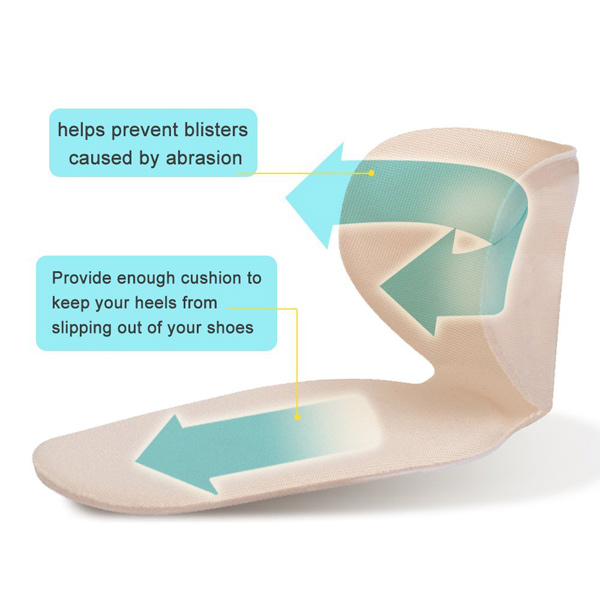 Self Sticky Heel Pain Relief Pads Adhesive Gel Insole ZG -230