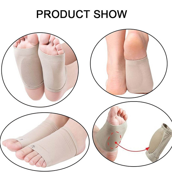 Arch Support Sleve Flat Feet Orthotics Socks Cushion Gel Plantar Fastias Socks ZG -1803
