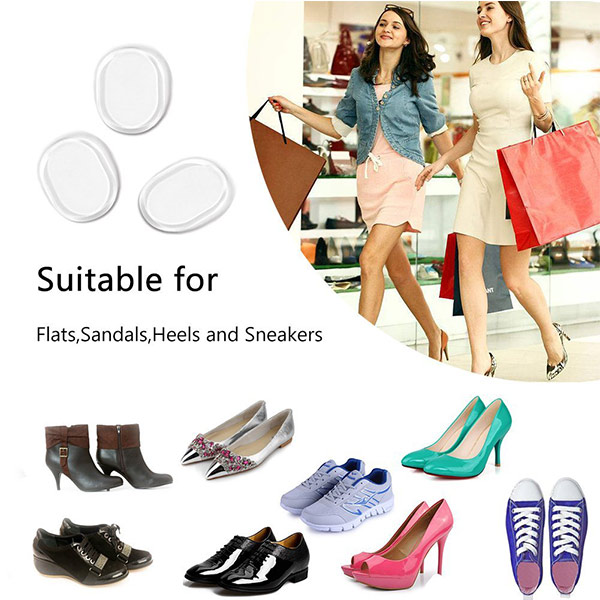 Consegna rapida Silicone Gel Heel Cushion High Heel Insets foot pads for woman ZG -271