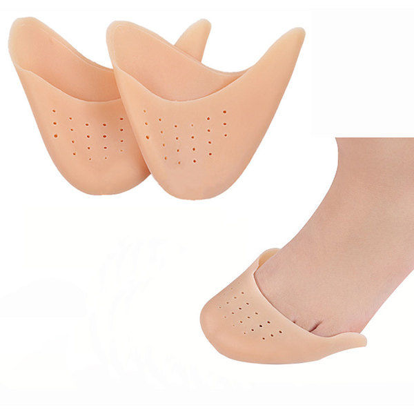 Commercio all'ingrosso Hot Sale Wasable Silicone Ballet Toe Pads Durable Massaging Insole ZG -443