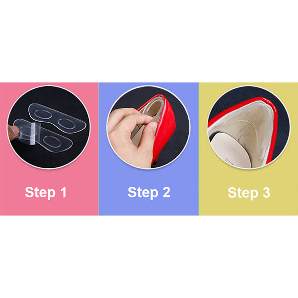 Hot Sale Soft Adhesive Massage Heel Liner Silicone Gel Pad ZG -311