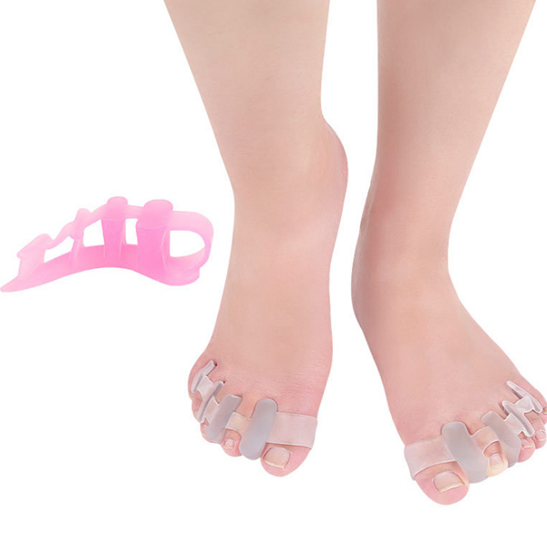 2018 Amazon Hot Sell In Stock Bunion Toe Separator Gel Silicone Corrector Toe Straighter ZG -451