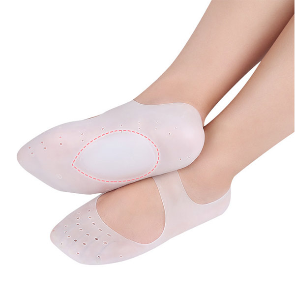 Respirabile Anti Crack Whitening Moisture Arch Support Silicone Gel Spa Sock Nuovi prodotti ZG -450